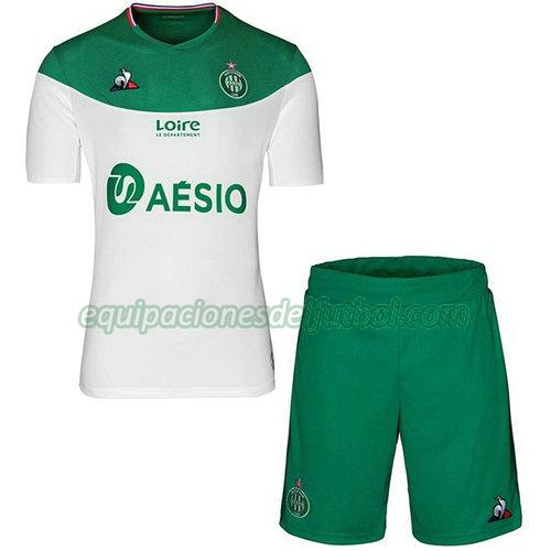 camiseta as saint-étienne 2019-2020 primera - blanco niño