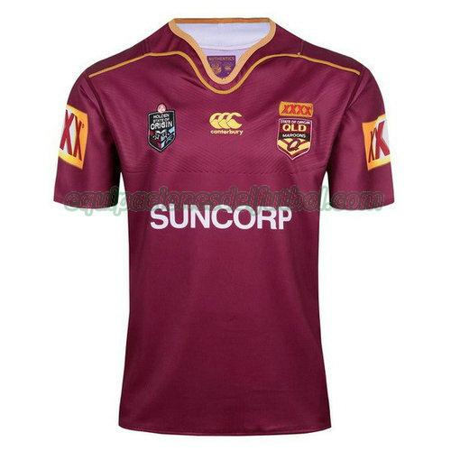 camiseta rugby qld maroons 2017-2018 - rojo hombre